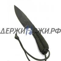 Нож Backpacker Black ionbond Blade Olive Paracord White River WR/BP-OD-CBI