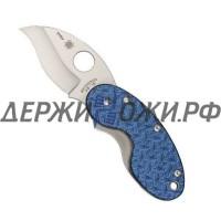 Нож Cricket Nishijin Blue Glass Fiber Spyderco складной 29GFBLP