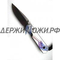 "Нож складной ""LargeSebenza SS14"" аметист, фиолетовые перья ChR/L21UN E Amethyst SS14"