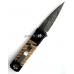 "Нож  Pro-Tech Godson Custom 750-MT , D. Thomas ""Herringbone"" stainless damascus, Mastodon Tooth inlays складной автоматический PR/GSMastDam"