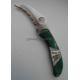 Нож Santa Fe Spyderco Harpy (малахит,перламутр,серебро) складной SF/SPYJ8M