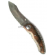 Нож Kagemusha NJ35 Damascus Circassian Walnut Katz складной KZ/NJ-35/DM