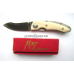 Нож  Kagemusha NJ3 White Micarta Katz складной KZ/NJ-3/WM