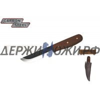 Нож CONDOR TOOL CTK236-4HC BUSHCRAFT BASIC KNIFE ; Рукоять дерево Ножны Кожа